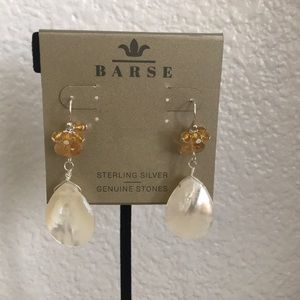 BARSE Mother of pearl, Citrine, sterling silver
